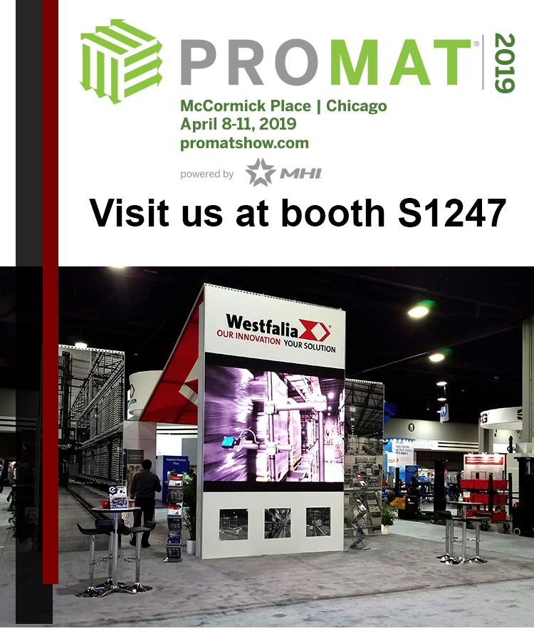 Visit Westfalia at ProMat 2019 | Booth S1247