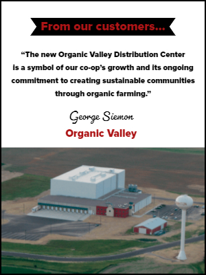 Testimonial-AS/RS-OrganicValley-widget