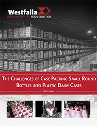 The Challenges of Case Packing Small Round Bottles into Plastic Dairy Cases
