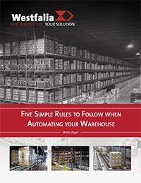 Five Simple Rules to Follow when Automating your Warehouse