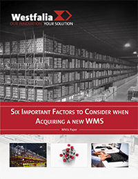 Six important factors when acquiring a new WMS