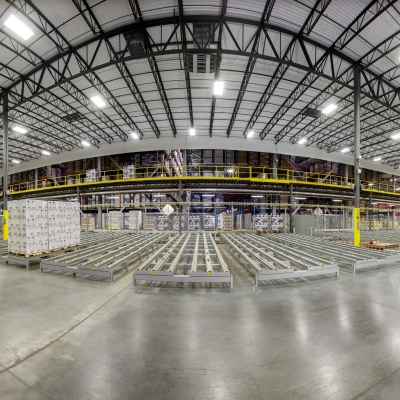 Panoramic view of The Glenmore Distillery's Owensboro, KY distribution center