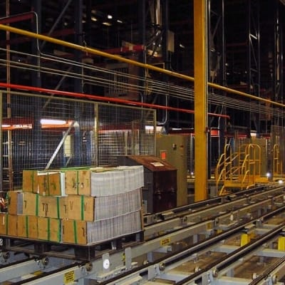 Westfalia accumulation conveyors at Quad Graphics