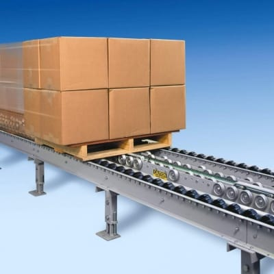 Westfalia air chain conveyor with pallet