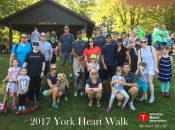 The Westfalia team and their families had a blast showing their support for the American Heart Association by participating in the York heart walk.